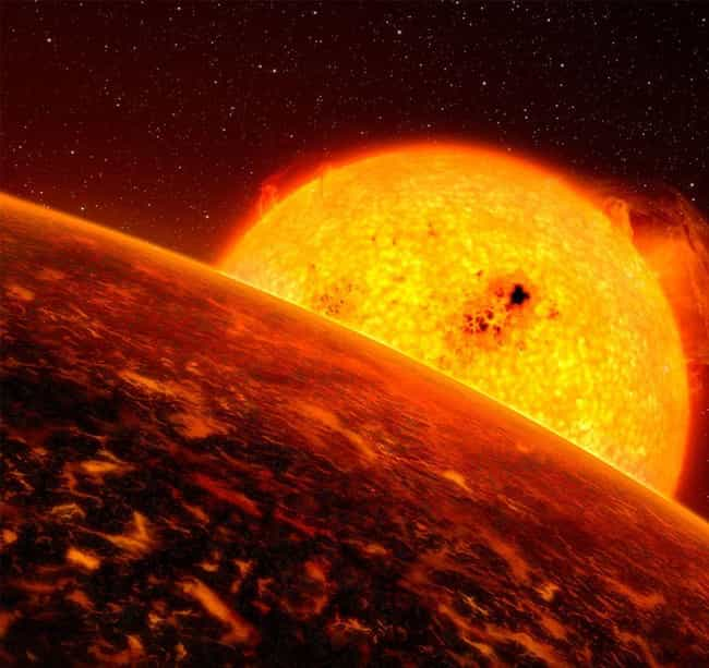 CoRoT-7b Might Be the Mustafar... is listed (or ranked) 1 on the list Real Planets That Prove Our Galaxy Is Just Ripping Off Star Wars