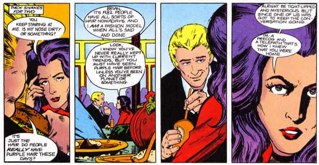 She Has Purple Hair Thanks to ... is listed (or ranked) 2 on the list 23 Things You Didn't Know About Psylocke