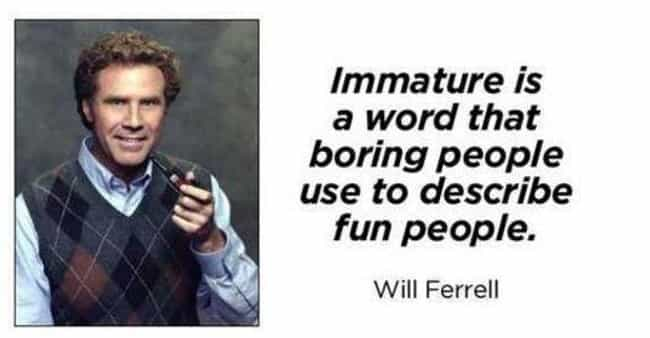 You Stay Unclassy, Will Ferrel... is listed (or ranked) 4 on the list 24 Photos You'll Enjoy If You're Completely Immature