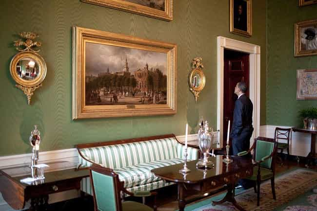 Green Room is listed (or ranked) 1 on the list The Coolest Rooms in the White House (And What Happens in Them)