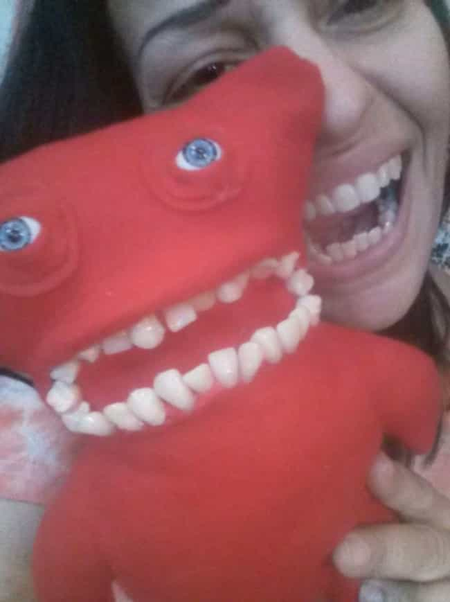 Toothy Monster, Handmade... is listed (or ranked) 4 on the list 18 of the Creepiest Dolls You Can Buy on EBay