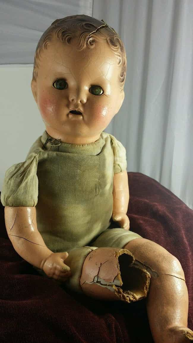 Antique Cracked Composit... is listed (or ranked) 6 on the list 18 of the Creepiest Dolls You Can Buy on EBay