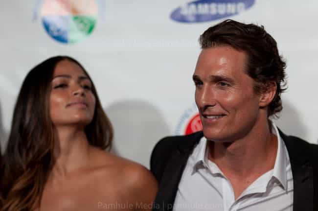 Matthew McConaughey and Camila... is listed (or ranked) 2 on the list Celeb Couples Who Had Kids Together Before Getting Married