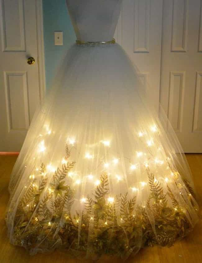 Light Up the Night Fairy... is listed (or ranked) 1 on the list Creative Homemade Prom Dresses