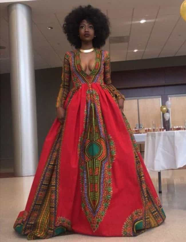 Amazing Afro-Centric Dre... is listed (or ranked) 2 on the list Creative Homemade Prom Dresses