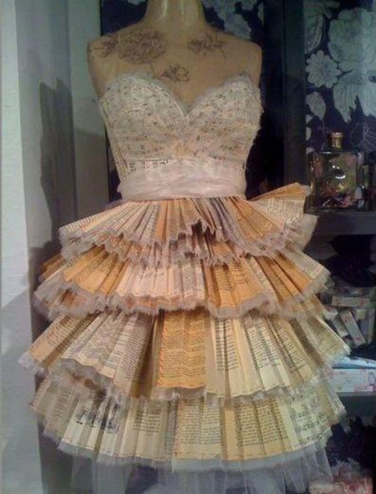 What to Do with All Those Book is listed (or ranked) 4 on the list Creative Homemade Prom Dresses