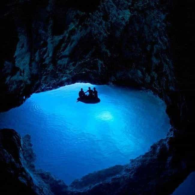 This Blue Grotto in Italy Wher... is listed (or ranked) 3 on the list The Most Beautiful Sea Caves Around the World
