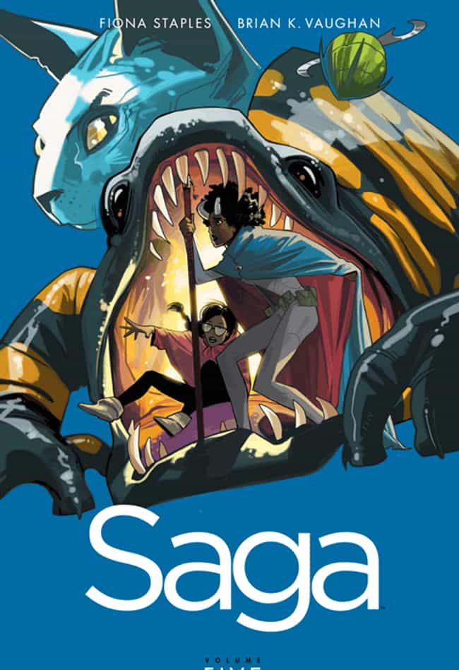 Saga is listed (or ranked) 7 on the list Comic Books That Would Make Great Cartoons
