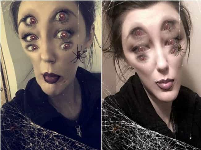 Spider Girl Will Haunt Y... is listed (or ranked) 3 on the list Scary Snapchats That'll Give You Nightmares