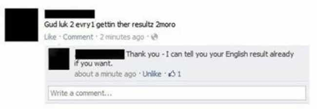 Gonna Bet the Odds Are i... is listed (or ranked) 2 on the list Dumb Facebook Posts from Idiots Who Can't Spell