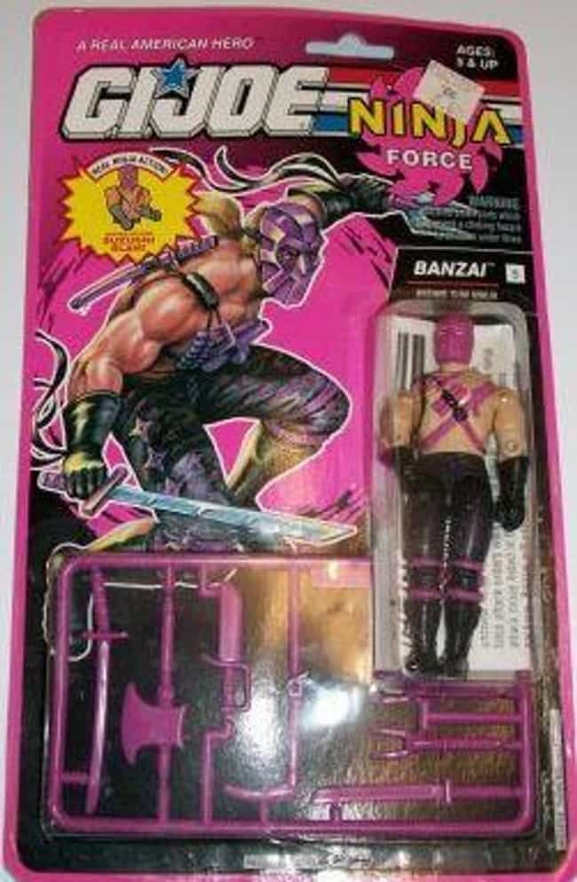 Banzai is listed (or ranked) 2 on the list 22 G.I. Joe Action Figures You Wouldn't Want in Your Platoon