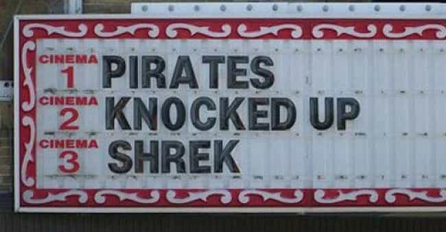 The Truth Comes Out is listed (or ranked) 1 on the list 22 Hilarious Movie Marquee Fails