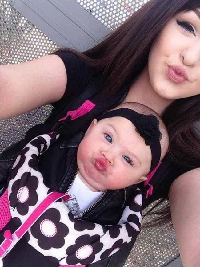 Early Duck Face Training is listed (or ranked) 4 on the list The Greatest Baby Selfies Ever