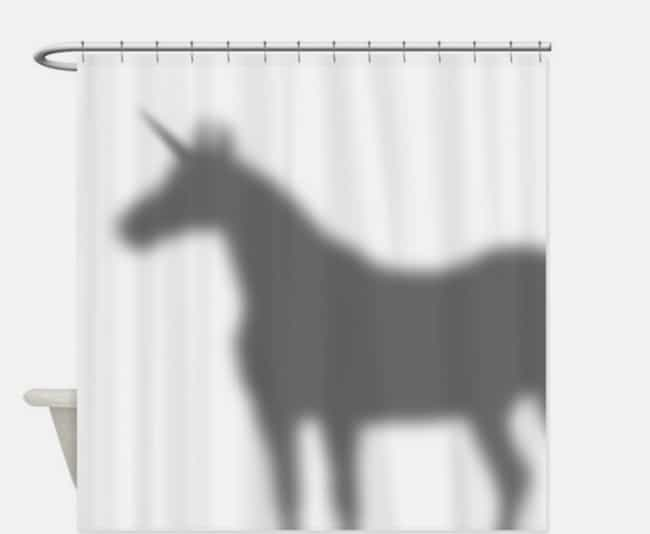 What? Unicorns Have to Shower ... is listed (or ranked) 3 on the list 25 Very Clever Shower Curtains That Will Make You Smile