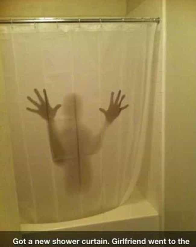 The Shower Curtain Made of Nig... is listed (or ranked) 1 on the list 25 Very Clever Shower Curtains That Will Make You Smile