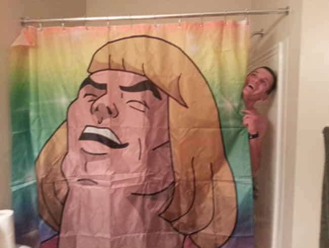 "I Said, ""Hey! What's G... is listed (or ranked) 2 on the list 25 Very Clever Shower Curtains That Will Make You Smile"