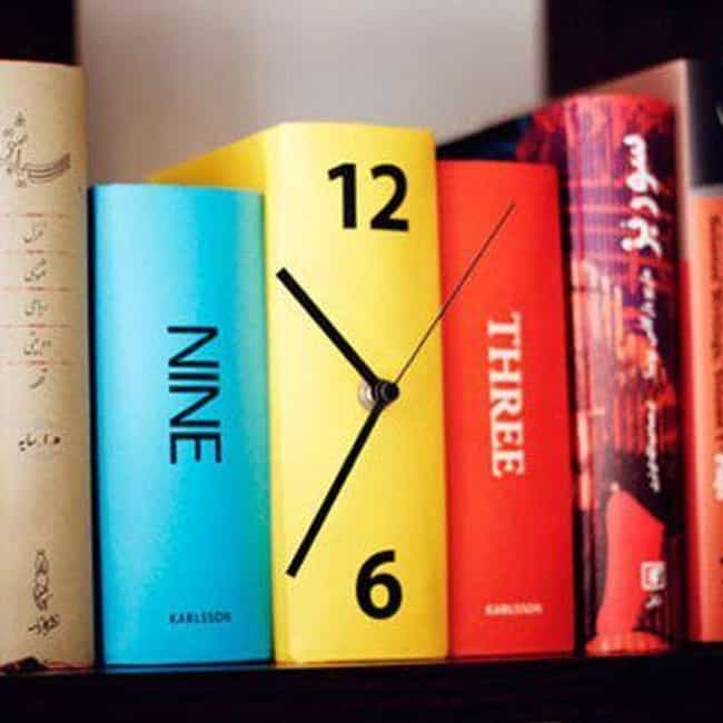 This Fully Shelvable Time Tick... is listed (or ranked) 4 on the list 29 Funny Clocks That Are Set to LOL O'Clock