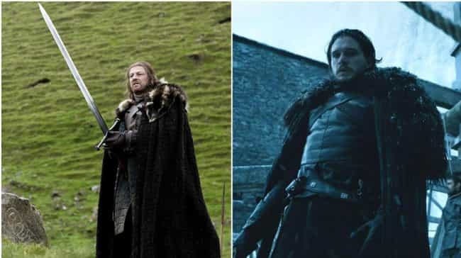They've Both Had to Bring Just... is listed (or ranked) 3 on the list All the Ways Jon Snow Is Becoming Ned Stark