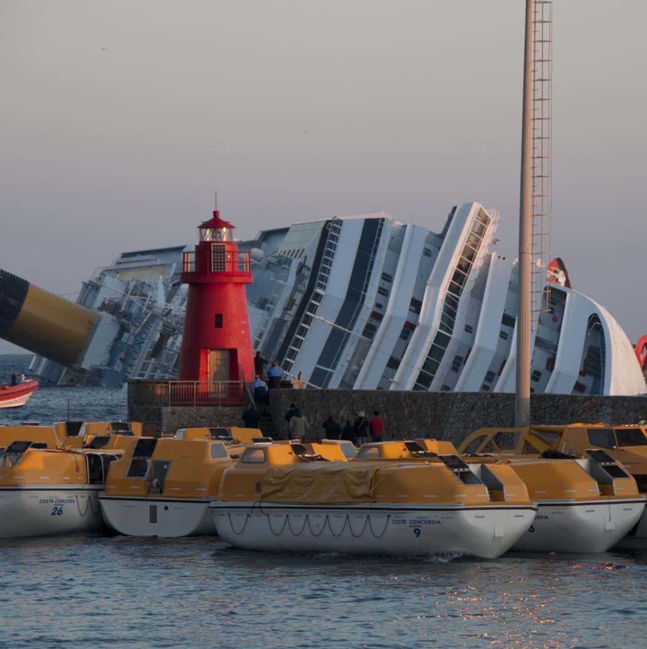 Costa Concordia: Ran Aground is listed (or ranked) 3 on the list The Worst Cruise Ship Disasters