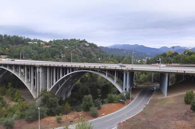 The Colorado Street Bridge is listed (or ranked) 4 on the list Creepy Ghost Stories About Los Angeles