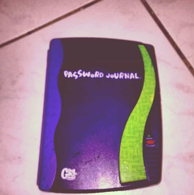 Password Journal is listed (or ranked) 1 on the list '90s Toys All Girls Had That Were Actually Ridiculously Dumb