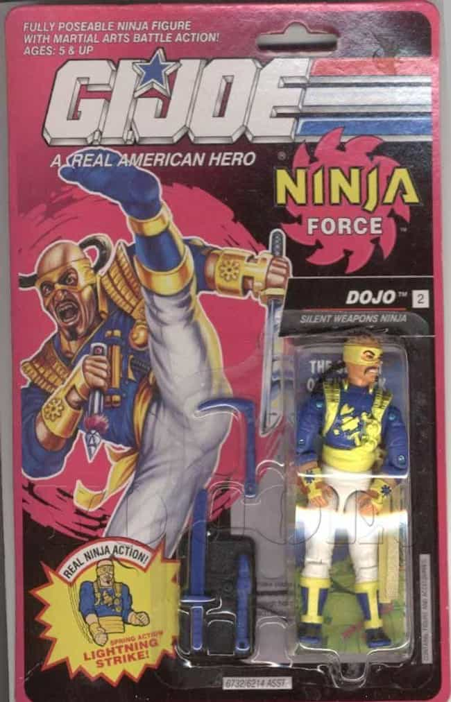Dojo is listed (or ranked) 8 on the list 22 Cobra Action Figures So Bad They Disgraced the Whole Organization