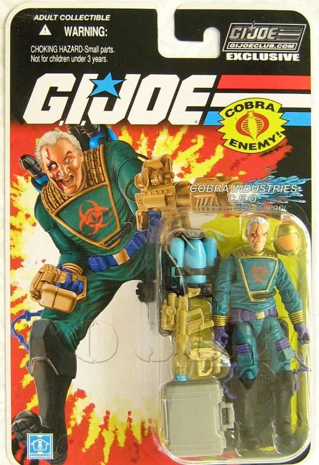 Cesspool is listed (or ranked) 5 on the list 22 Cobra Action Figures So Bad They Disgraced the Whole Organization