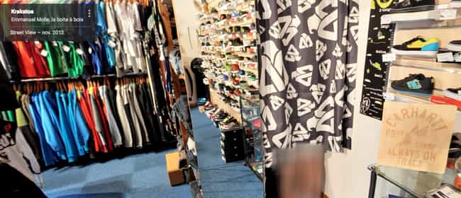 Google Street View Catches Fre... is listed (or ranked) 4 on the list Insane Things People Were Busted for in Dressing Rooms
