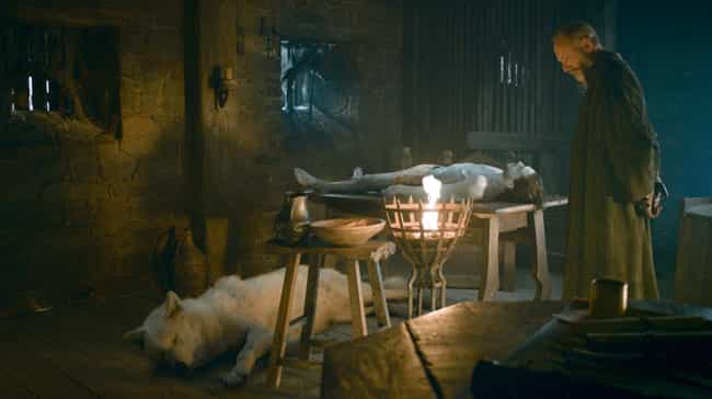 Ghost's Fur Color=R+L=J is listed (or ranked) 4 on the list 'Game Of Thrones' Scenes You Should've Paid More Attention To