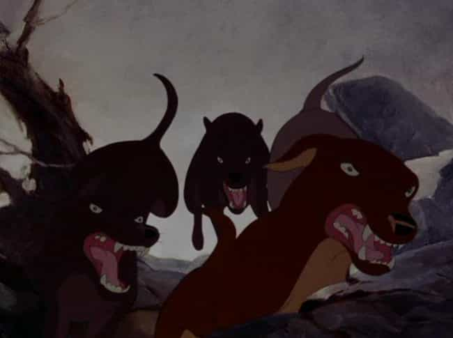 "The Hunter Scene in ""Bamb... is listed (or ranked) 3 on the list The Scariest Scenes from Classic Disney Movies"