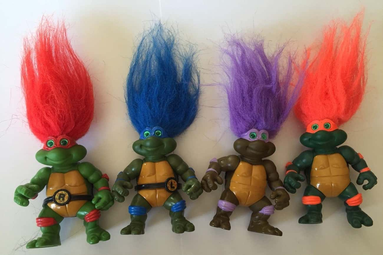 Turtle Trolls is listed (or ranked) 4 on the list The Most Ridiculous WTF Teenage Mutant Ninja Turtle Toys