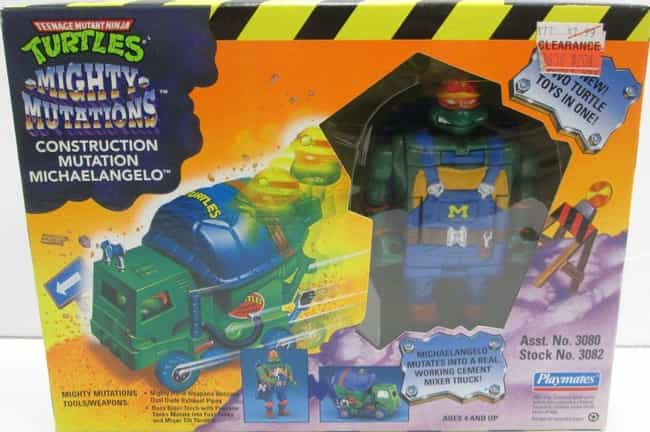 Construction Mutation Mi... is listed (or ranked) 7 on the list The Most Ridiculous WTF Teenage Mutant Ninja Turtle Toys