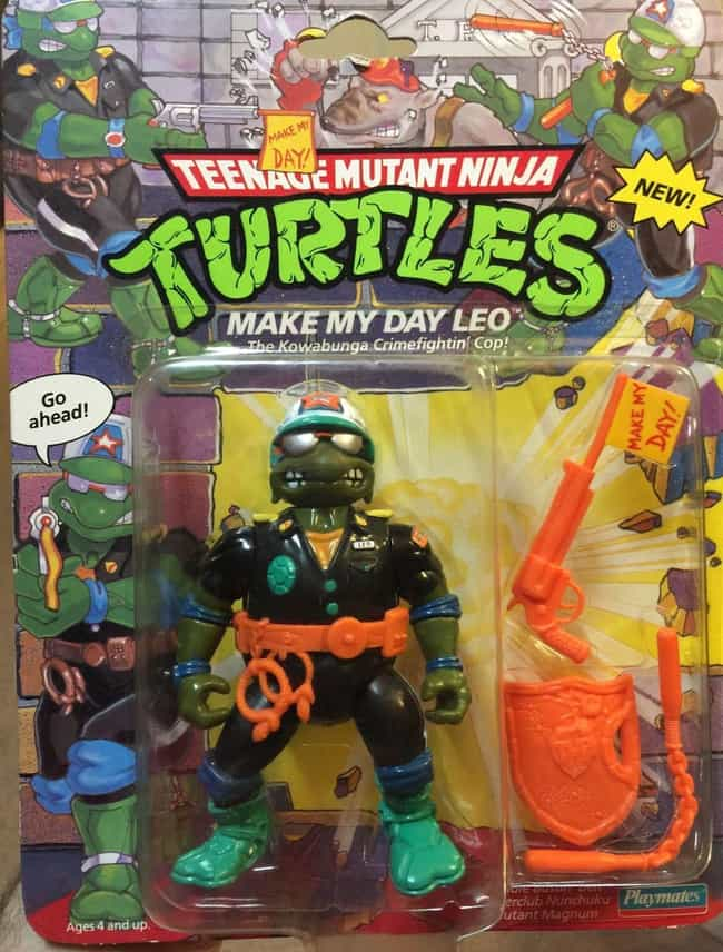 Make My Day Leo is listed (or ranked) 5 on the list The Most Ridiculous WTF Teenage Mutant Ninja Turtle Toys