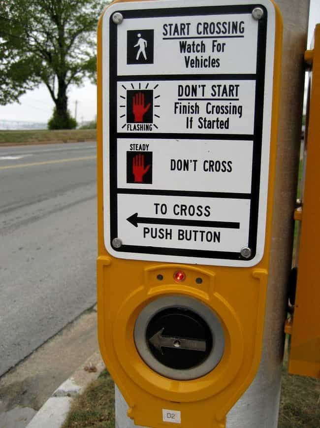 Crosswalk Buttons is listed (or ranked) 2 on the list Buttons You Push Everyday That Don't Actually Do Anything