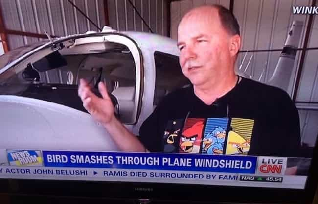 Come Fly the Angry Skies is listed (or ranked) 2 on the list 25 People Who Were Wearing the Right Shirt at the Right Time