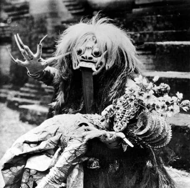 Rangda is listed (or ranked) 1 on the list 15 Terrifying Religious Demons We Hope We Never Meet