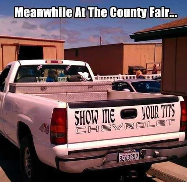 The Pick-Up Chicks Truck is listed (or ranked) 4 on the list Meanwhile at the County Fair . . .