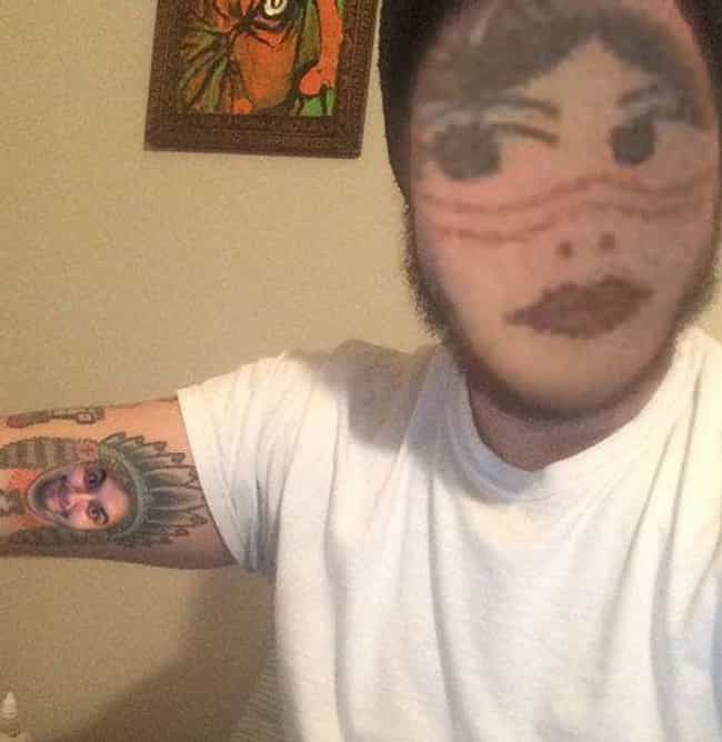 Nice Face Paint, Chief is listed (or ranked) 2 on the list People Who Face Swapped with Face Tattoos