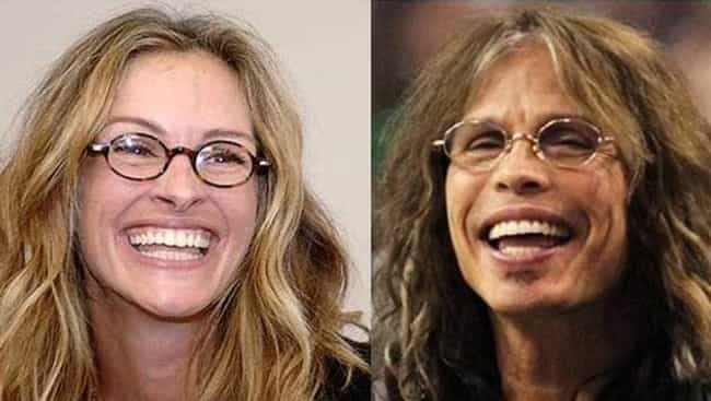 Julia Roberts and Stephen Tyle... is listed (or ranked) 7 on the list Female Celebrities Who REALLY Look Like Male Celebrities