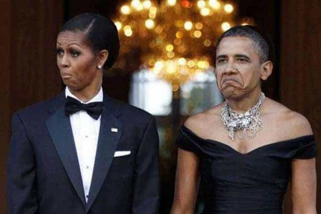 Barack and Michelle Mix Things... is listed (or ranked) 2 on the list 25 Celebrity Couple Face Swaps That Are Too Funny For Words