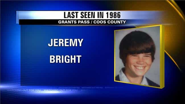 Jeremy Bright is listed (or ranked) 4 on the list 'Unsolved Mysteries': Where Are They Now?