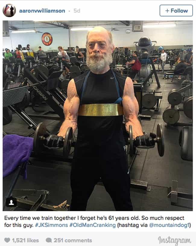 J.K. Simmons - Justice L... is listed (or ranked) 2 on the list The Most Extreme Body Transformations Done for Movie Roles