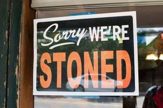 Just Own It is listed (or ranked) 2 on the list Dispensary Signs So Funny You'll Get a Contact High