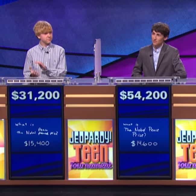 Jeopardy! Teen Tournamen... is listed (or ranked) 2 on the list The Best Kid Versions of Reality TV Shows