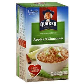 Quaker Apples & Cinnamon Insta is listed (or ranked) 2 on the list The Best Quaker Oatmeal Flavors