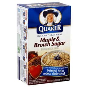 Quaker Maple & Brown Sugar is listed (or ranked) 1 on the list The Best Quaker Oatmeal Flavors