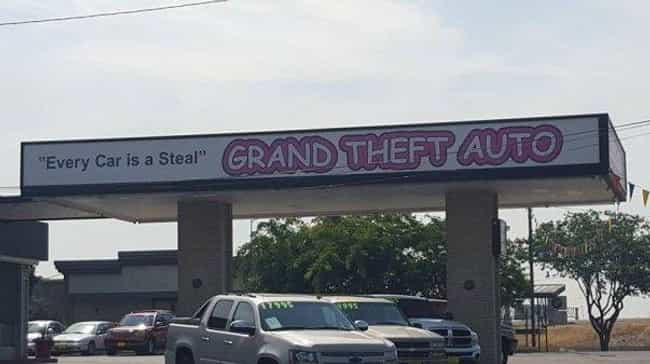 I See What You Did There... is listed (or ranked) 1 on the list The Funniest Car Dealership Names Ever
