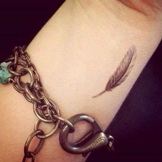 Feather is listed (or ranked) 2 on the list The Most Hipster Tattoos You See Everywhere (and What They Mean)