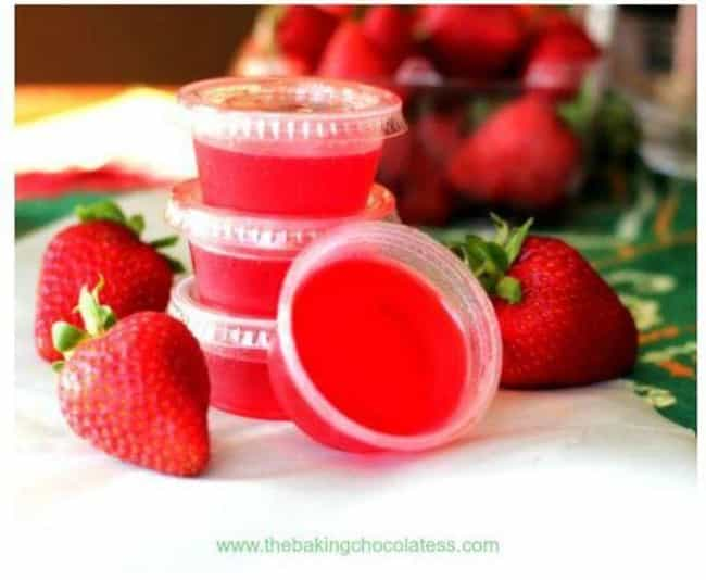 Strawberry Lime Margarita Jell... is listed (or ranked) 2 on the list Jell-O Shot Ideas You Need in Your Life Immediately
