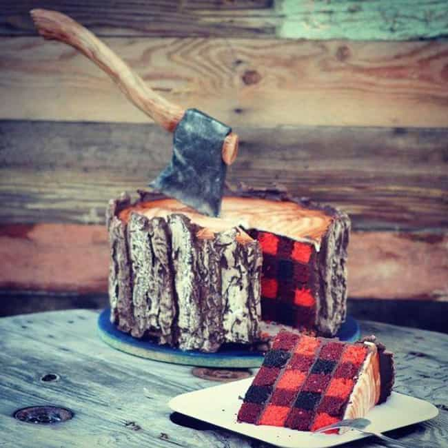 """Lumberjack Cake is listed (or ranked) 2 on the list The Coolest """"How Did They Do That?"""" Cakes"""